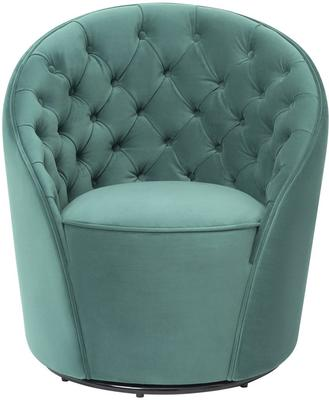 Chelsea Buttoned Green Swivel Chair image 8