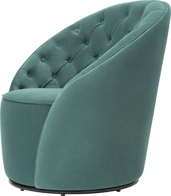 Chelsea Buttoned Green Swivel Chair image 9