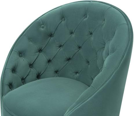 Chelsea Buttoned Green Swivel Chair image 10