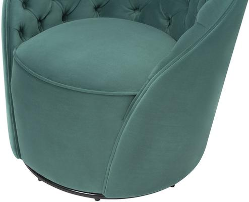 Chelsea Buttoned Green Swivel Chair image 11