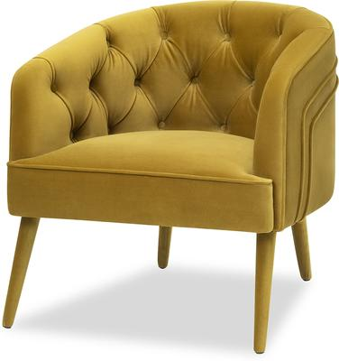 Langham Buttoned Tub Chair in Mustard or Grey