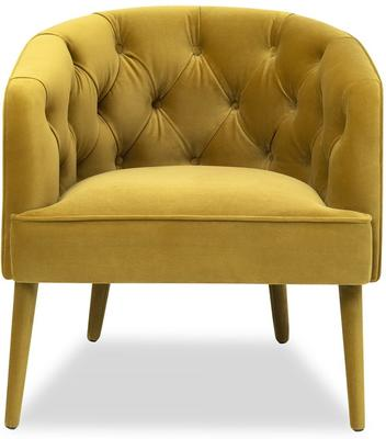 Langham Buttoned Tub Chair in Mustard or Grey image 2