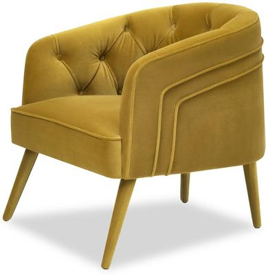 Langham Buttoned Tub Chair in Mustard or Grey image 3