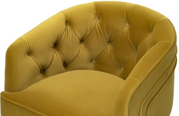 Langham Buttoned Tub Chair in Mustard or Grey image 4