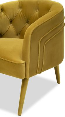 Langham Buttoned Tub Chair in Mustard or Grey image 5
