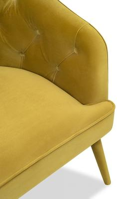 Langham Buttoned Tub Chair in Mustard or Grey image 6