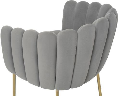 Daisy Velvet Flower Tub Chair image 5