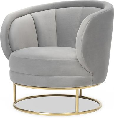 Mila Velvet Tub Chair Art Deco Design