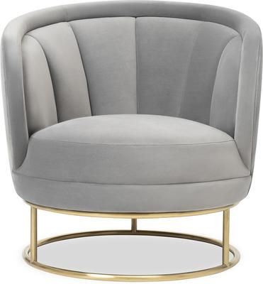 Mila Velvet Tub Chair Art Deco Design image 2