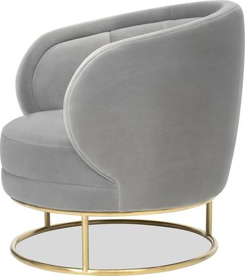 Mila Velvet Tub Chair Art Deco Design image 3