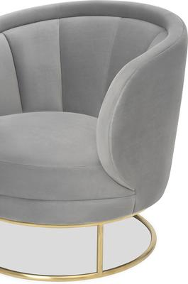 Mila Velvet Tub Chair Art Deco Design image 4