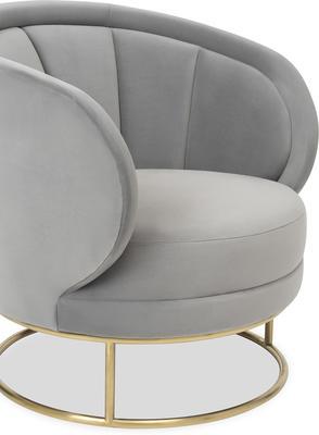 Mila Velvet Tub Chair Art Deco Design image 5