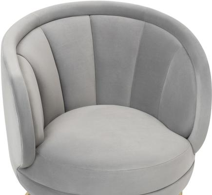 Mila Velvet Tub Chair Art Deco Design image 6