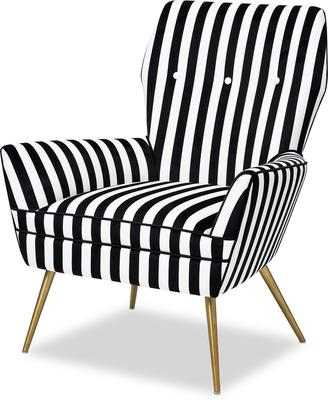 Paris Chic Velvet Chair Striped or White