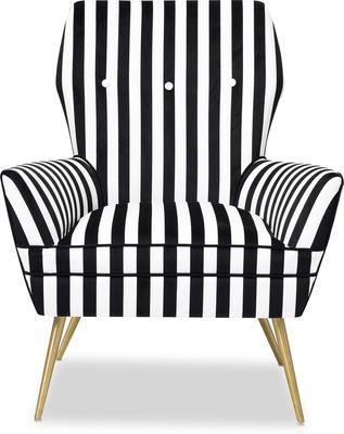 Paris Chic Velvet Chair Striped or White image 2