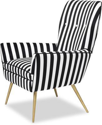 Paris Chic Velvet Chair Striped or White image 3