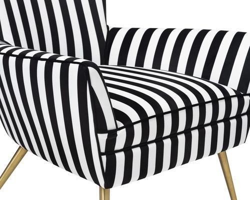 Paris Chic Velvet Chair Striped or White image 6