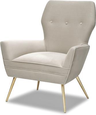 Paris Chic Velvet Chair Striped or White image 7