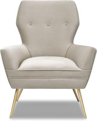 Paris Chic Velvet Chair Striped or White image 8