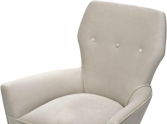 Paris Chic Velvet Chair Striped or White image 10