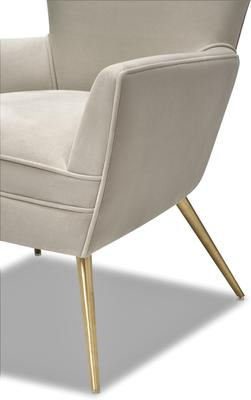Paris Chic Velvet Chair Striped or White image 11