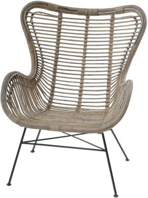Toba Rattan Wing Back Chair