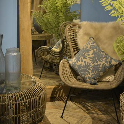 Toba Rattan Wing Back Chair image 2