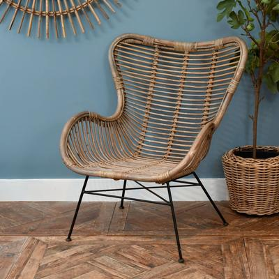 Toba Rattan Wing Back Chair image 3