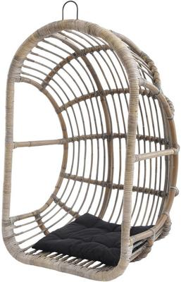 Toba Rattan Egg Swing Chair With Cushion
