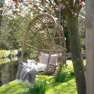 Toba Rattan Egg Swing Chair With Cushion image 3