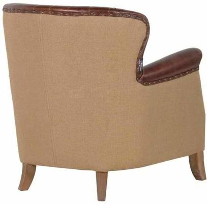 Diamond Back Antique Brown Leather Armchair image 2