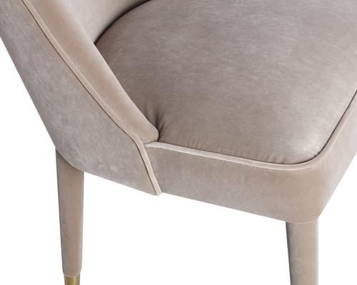 Viva Velvet Dining Chair in Lilac, Mink or Blue image 3