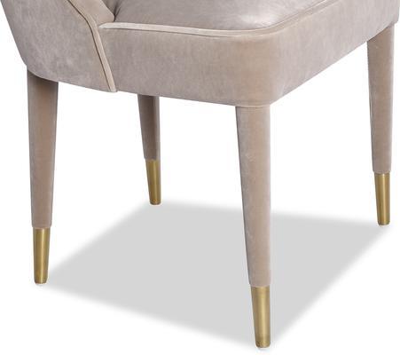 Viva Velvet Dining Chair in Lilac, Mink or Blue image 10