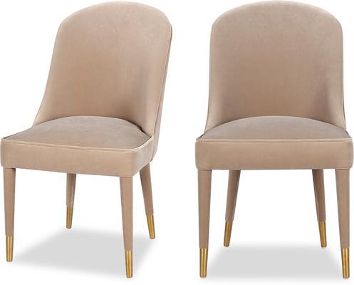 Viva Velvet Dining Chair in Lilac, Mink or Blue image 16
