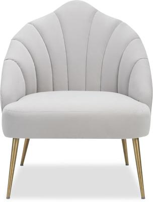 Walton Occasional Velvet Chair in Off-White or Aqua Green image 2