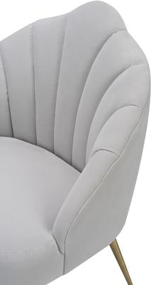 Walton Occasional Velvet Chair in Off-White or Aqua Green image 3