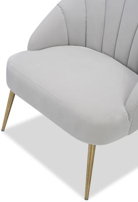 Walton Occasional Velvet Chair in Off-White or Aqua Green image 4