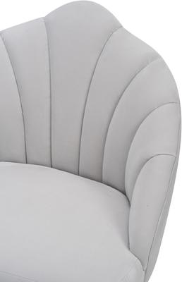 Walton Occasional Velvet Chair in Off-White or Aqua Green image 6
