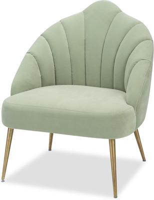 Walton Occasional Velvet Chair in Off-White or Aqua Green image 7