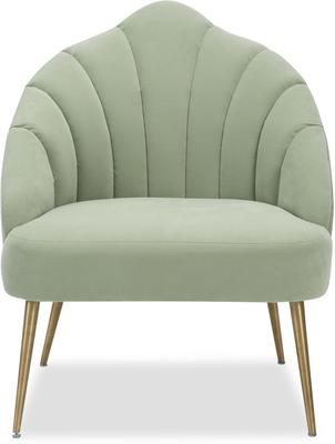 Walton Occasional Velvet Chair in Off-White or Aqua Green image 8