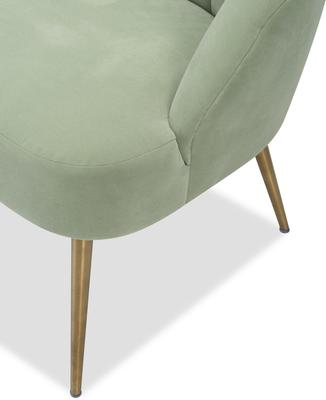 Walton Occasional Velvet Chair in Off-White or Aqua Green image 9