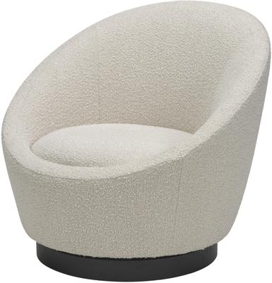 Ekte Swivel Occasional Tub Chair in Boucle Sand