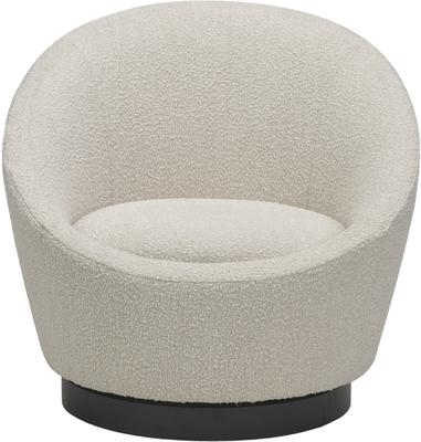 Ekte Swivel Occasional Tub Chair in Boucle Sand image 2
