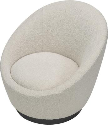 Ekte Swivel Occasional Tub Chair in Boucle Sand image 3