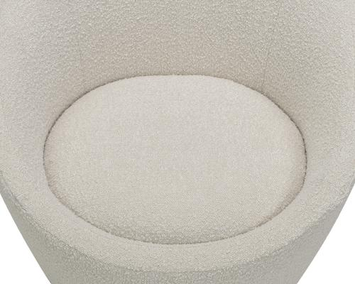 Ekte Swivel Occasional Tub Chair in Boucle Sand image 4