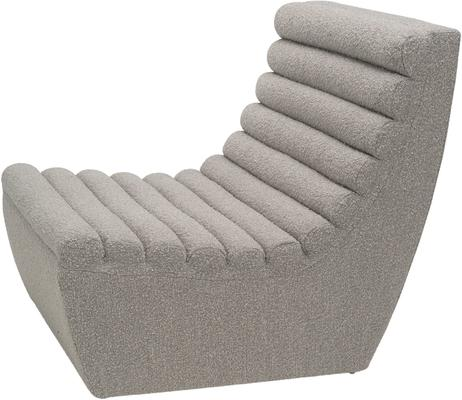 Limberg Boucle Sculpted Occasional Chair in Taupe or Slate image 2