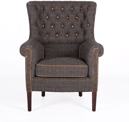 Dark Harris Tweed Holker Armchair