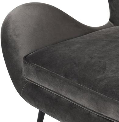 Grey Wing Back Chair image 2