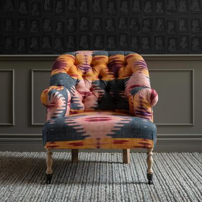 St Germaine Tufted Patola Linen Armchair image 2