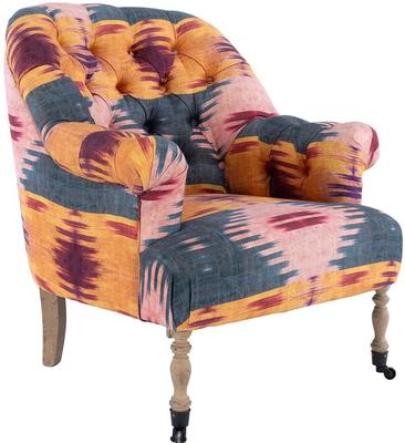 St Germaine Tufted Patola Linen Armchair image 3